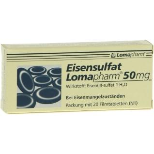 Eisensulfat Lomapharm 50mg Filmtabletten