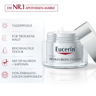 Eucerin® Hyaluron-Filler Tagespflege + 125 ml DermatoClean 3in1 Mizellen-Reinigungsfluid GRATIS