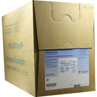 Isotonische Natriumchlorid Berlin-Chemie 9 mg/ml (0,9%) Infusionslösung Glasflasche