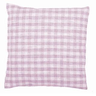KIRSCHKERNKISSEN 10x10 cm Baby weiß/rosa kariert
