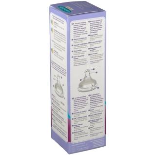 Lansinoh® Glas-Weithalsflasche 240 ml mit Sauger Gr. M