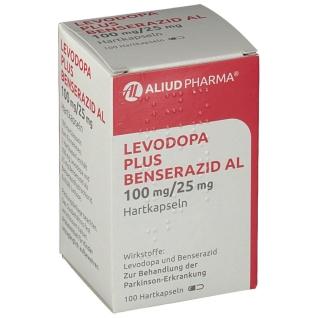 LEVODOPA plus Benserazid AL 100 mg/25 mg Hartkaps.