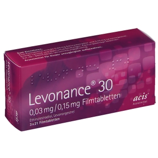 LEVONANCE 30 0,03 mg/0,15 mg Filmtabletten