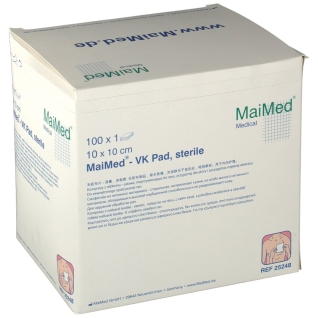 MaiMed® VK Pad Vlieskompressen 10 x 10 cm steril