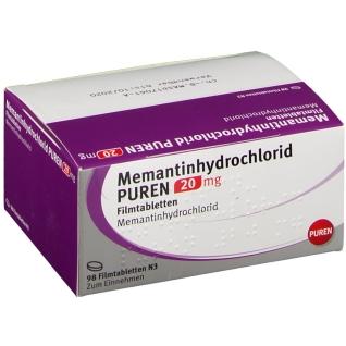 MEMANTINHYDROCHLORID PUREN 20 mg Filmtabletten