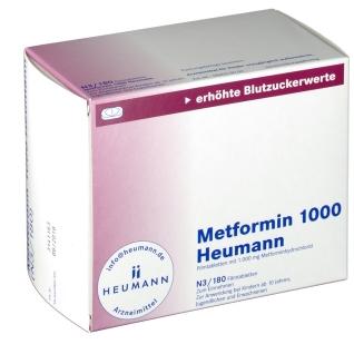 METFORMIN 1.000 Heumann Filmtabletten