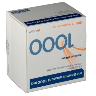 Metformin Axcount 1000 mg Filmtabletten