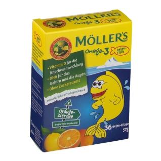 MÖLLER'S Omega-3 Gelee Fische natürlicher Fruchtgeschmack