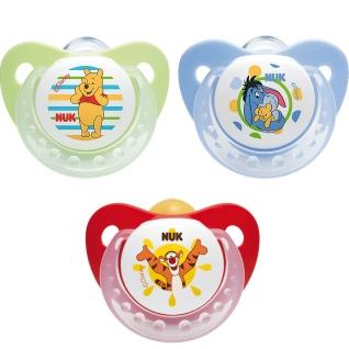 NUK® Beruhigungssauger Winnie the Pooh Silikon Gr. 1 0-6 Monate (Farbe/Motiv nicht wählbar)