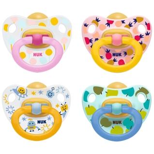 NUK® Classic Happy Kids Schnuller aus Latex Größe 0 bis 6 Monaten (Farbe/Motiv nicht wählbar)
