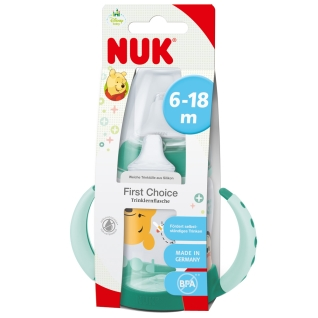 NUK® First Choice Disney Trinklernflasche 150 ml mit Trinktülle von 6 bis 8 Monaten (Farbe nicht wählbar)