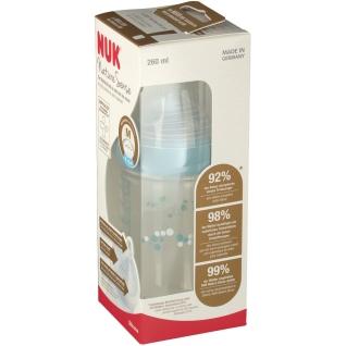 NUK® Nature Sense Babyflasche mit Trinksauger Größe 6 bis 18 Monaten M (Farbe nicht wählbar)