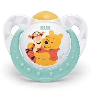 NUK® Trendline Disney Winnie the Pooh Schnuller latex Gr. 2 6-18 Monate (Farbe/Motiv nicht wählbar)