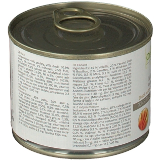 OrganicVet KATZE  SENSITIVE Ente mit Karotte und Lachsöl