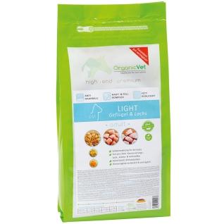 OrganicVet KATZE Trockenfutter LIGHT Geflügel & Lachs