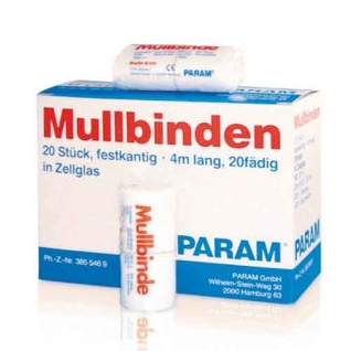 PARAM Mullbinden in Cellophan 4 m x 10 cm