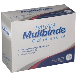 PARAM Mullbinden ohne Cellophan 4 m x 6 cm