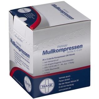 PARAM Mullkompressen 5 cm x 5 cm steril 8-fach