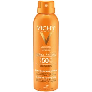 VICHY Idéal Soleil Transparentes & Hydratisierendes Körper-Spray LSF 50 + 100 ml  VICHY Idéal Soleil Pflege-Milch nach der Sonne GRATIS