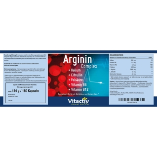 Vitactiv Arginin Complex - Blutdrucksenker