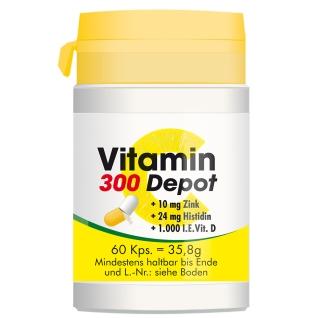VITAMIN C 300 Depot + Zink + Histidin + Vitamin D Kapseln
