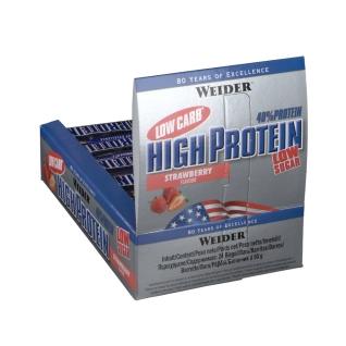 Weider 40 % High Protein Low Carb, Erdbeere, Riegel
