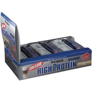 Weider 40 % High Protein Low Carb, Latte Macchiato, Riegel