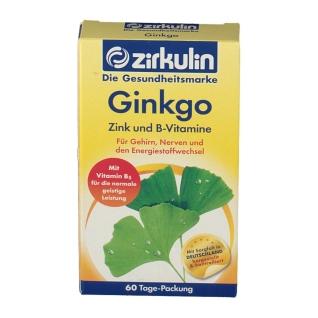 Zirkulin Ginkgo Zink und B-Vitamine