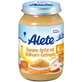Alete® Banane in Apfel mit Vollkorn-Getreide