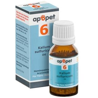 apopet® Schüßler-Salz Nr.6 Kalium sulfuricum D6 vet.