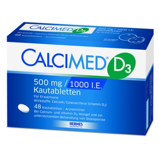 CALCIMED® D3 500mg / 1000 I.E. Kautabletten