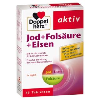 Doppelherz® aktiv Jod + Folsäure + Eisen