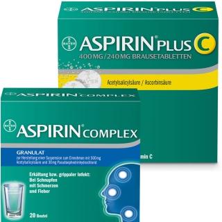 Erkältungsset ASPIRIN® Complex + ASPIRIN® Plus C
