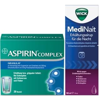 Erkältungsset Wick MediNait + ASPIRIN® Complex