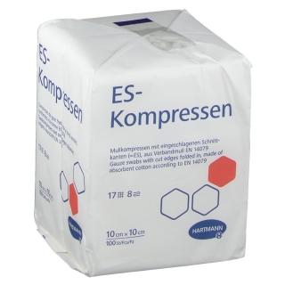 ES-Kompressen unsteril 8fach 10 x 10 cm