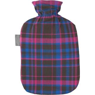fashy Wärmflasche mit Karobezug rot