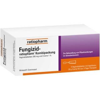 Fungizid-ratiopharm® 3 Vaginaltabletten + 20g Creme