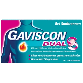 GAVISCON® Dual 250 mg / 106,5 mg / 187,5 mg Kautabletten