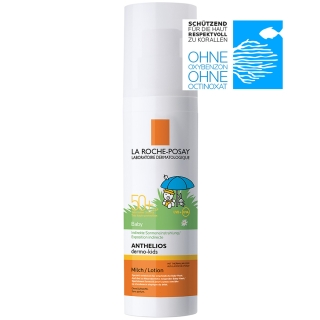 LA ROCHE-POSAY Anthelios Dermo Kids LSF 50+ Baby-Milch + After-Sun-Gel GRATIS