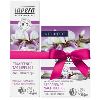lavera Tages- und Nachtpflege Set mit Karanja & Bio-Weißer Tee
