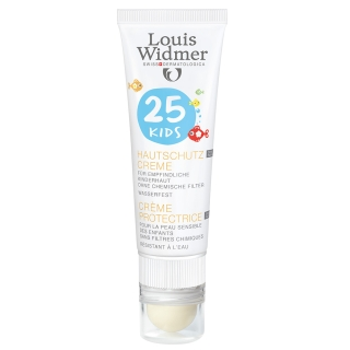 Louis Widmer Kids Hautschutz Creme 25 unparfümiert + Lippenpflege Stift UV 30