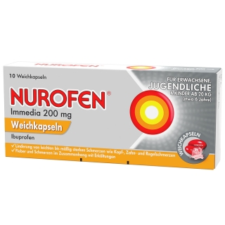 Nurofen® Immedia 200 mg Weichkapseln Jugendliche