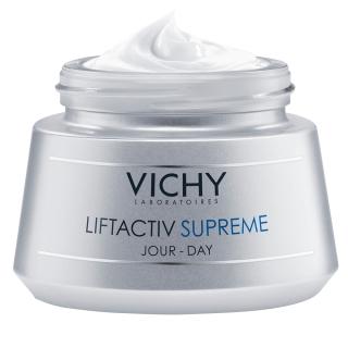 VICHY Liftactiv Supreme Tagespflege für trockene Haut + 7 ml Liftactiv Serum GRATIS