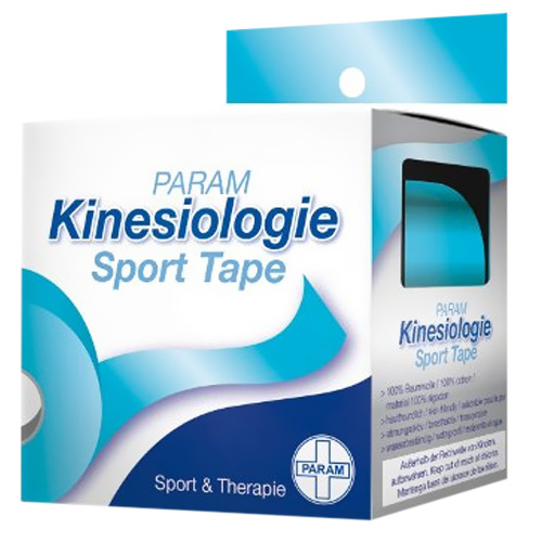 Param Kinesiologie Sport Tape 5 cm x 5 m blau