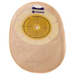 SenSura® einteilig geschlossener Beutel konvex light midi Stomagröße 31 mm mit Gürtelbefestigung hautfarben