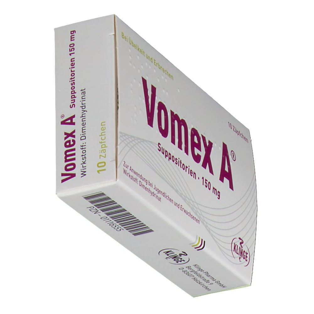 Vomex A 150 mg Suppos. - shop-apotheke.com