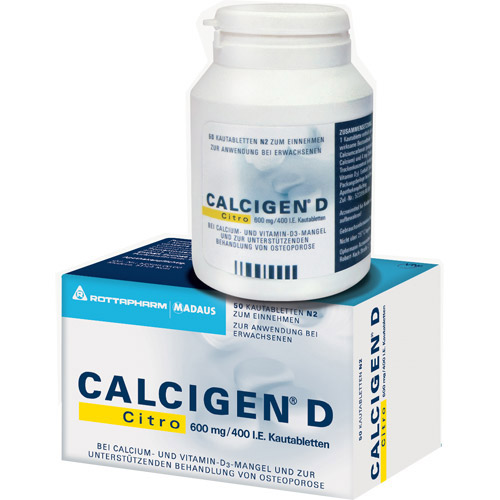 Calcigen® D Citro 600 mg / 400 I.e.