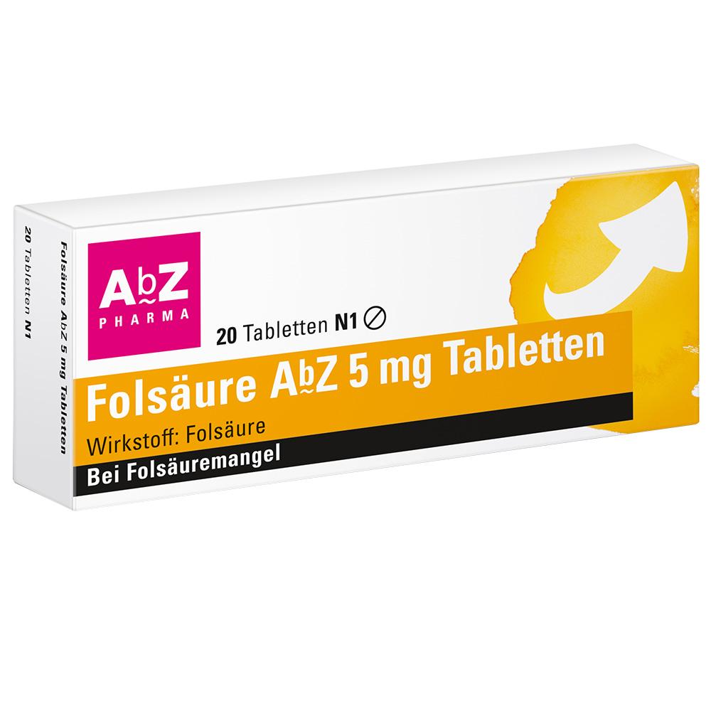 Folsäure AbZ 5 mg