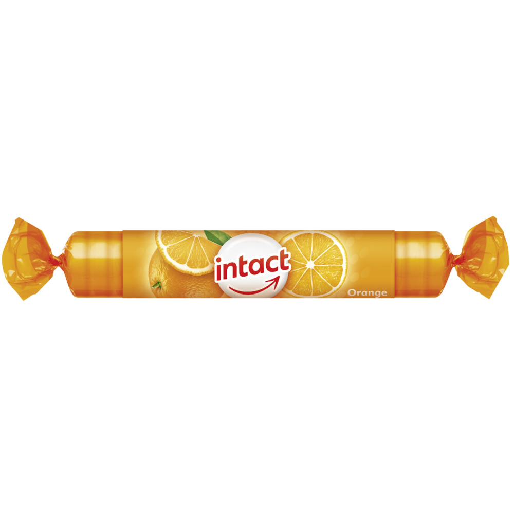 intact Traubenzucker-Rolle Orange