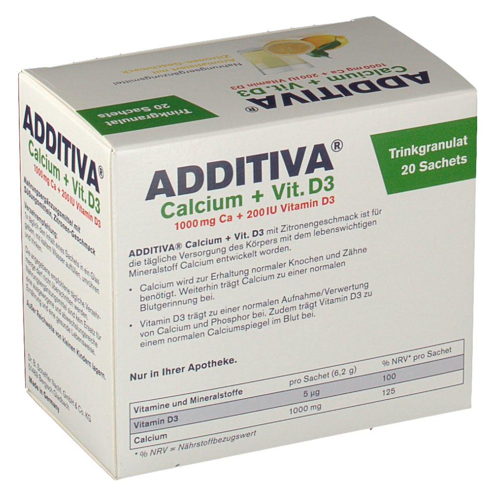 additiva calcium 1000 mg vitamin d 3 pulver shop. Black Bedroom Furniture Sets. Home Design Ideas